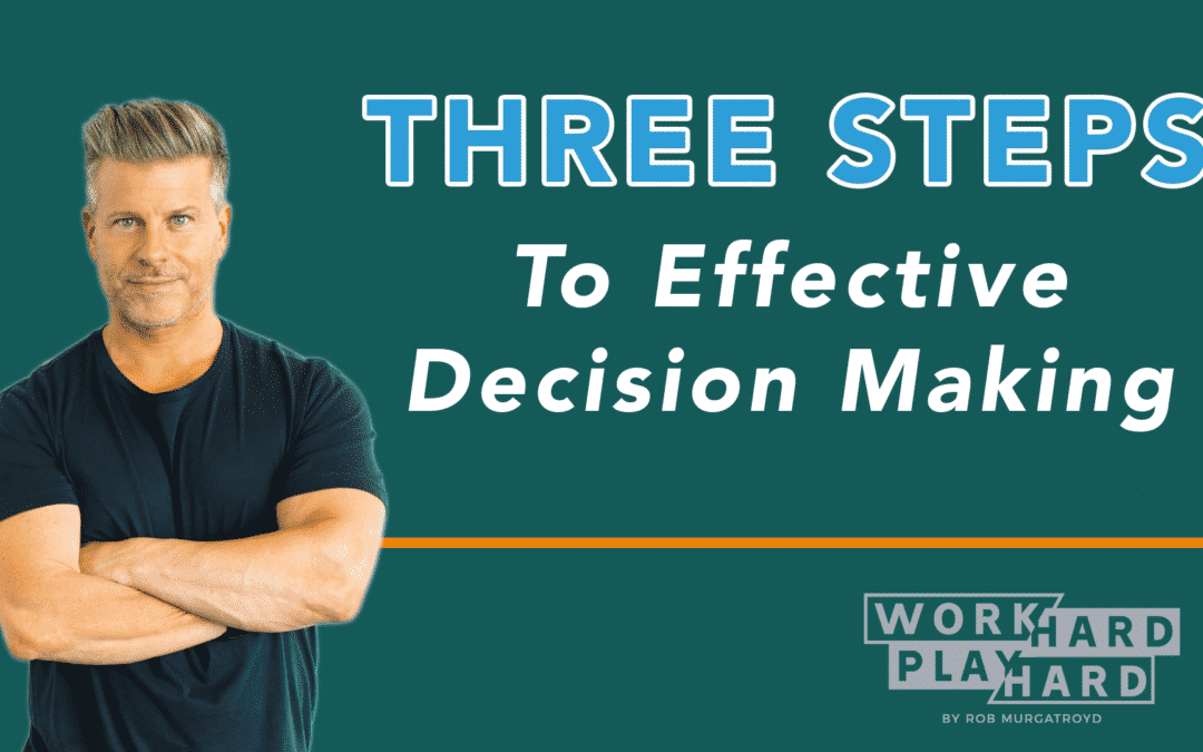 Three Steps to Effective Decision Making